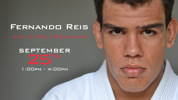 Ground Control Columbia will be hosting, Alliance Black Belt, Fernando Reis for a Brazilian Jiu Jitsu seminar on September 25th, 2016